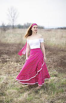 Sukne - sukňa Pink Polka Dot - 10656723_