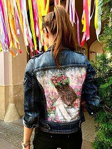 """Kabáty - Maľovaná bunda """"Fairy"""" (denim) - 10657220_"""