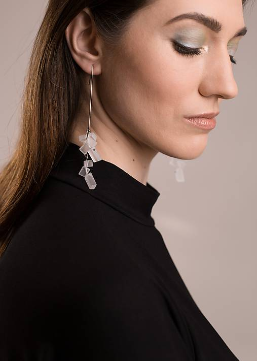 Náušnice - pure// crystals // earrings - 10657599_