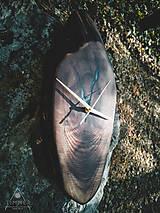 Hodiny - Split - Orechové drevené hodiny - 10657224_