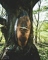 Hodiny - Split - Orechové drevené hodiny - 10657235_