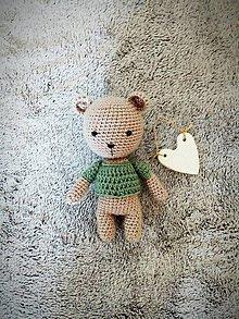 Hračky - Háčkovaný medvedík - 10656149_