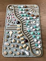 Detské doplnky - Senzomotorický koberec Mint - 10656107_