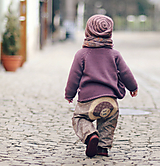 Detské oblečenie - Kytičkové s motýly - 10656402_