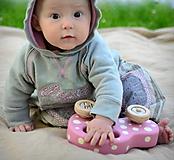 Detské oblečenie - Proužkované se sovou - 10656500_