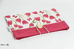 Papiernictvo - Obal na knihu - tulipány - 10656618_