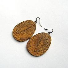 Náušnice - Drevené náušnice visiace - špaltovaný jaseň - 10657450_