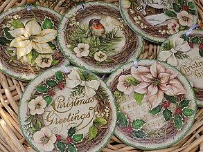 """Dekorácie - Vianočné ozdoby """"zelené"""" /6ks/ - 10659170_"""