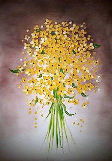 Obrazy - Žltá kytica - 10659420_