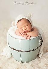 Detské čiapky - Čiapka pre novorodenca - 10659282_