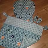 Textil - Set do kočíka - uni podložka a deka - 10659426_