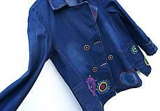 Kabáty - Denimový jacket Mandala - 10659034_