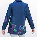 Kabáty - Denimový jacket Mandala - 10659182_