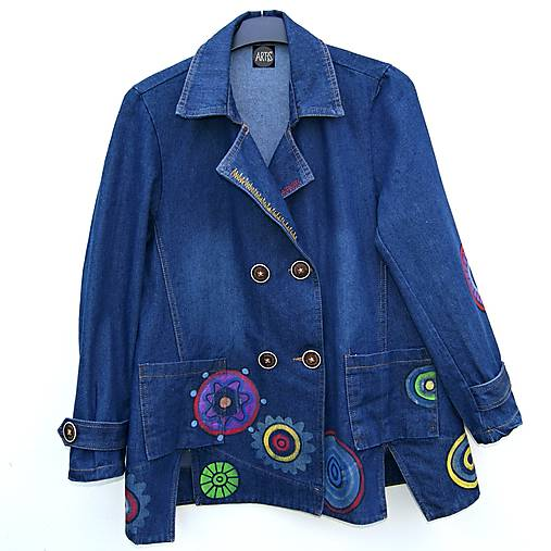 Denimový jacket Mandala