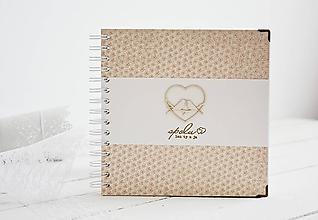 Papiernictvo - Svadobná kniha hostí - vtáčiky na marhuľkových kvietkoch 20x20 - 10659917_