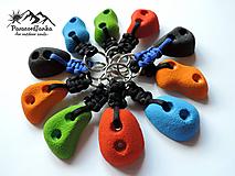 Kľúčenky - Lezecké chytíky - kľúčenky (Červená) - 10658016_