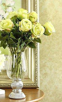 Iný materiál - Ruže marhuľové, žlté, zelené, bordové (Zelená) - 10659992_