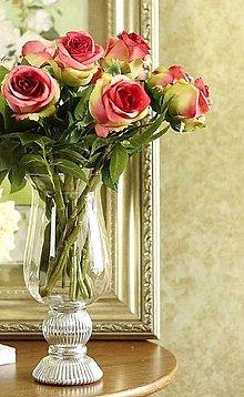 Iný materiál - Ruže marhuľové, žlté, zelené, bordové (Bordová) - 10659994_