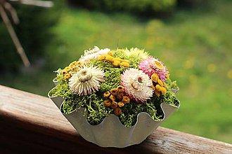 Dekorácie - Dekorácia zo sušených kvetov - 10657997_