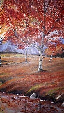 Obrazy - Jeseň pri rieke - 10660058_