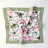 Úžitkový textil - bavlnený obrus motýle a ruže - 10659923_