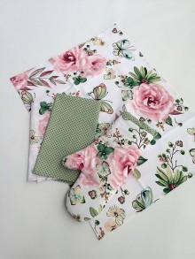 Úžitkový textil - utierka ružová motýle - 10659865_