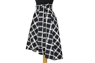 Sukne - Asymetrická zavinovacia sukňa