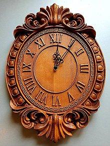 Hodiny - Drevorezba Nástenné hodiny Antique - 10658978_