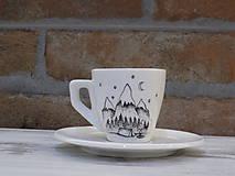 Nádoby - Maličká ristretto šálka - Camper - 10659611_