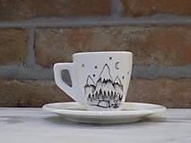 Nádoby - Maličká ristretto šálka - Camper - 10659613_