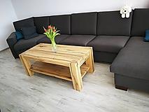 """Nábytok - Dubový stôl z policou """" olej """" - 10658848_"""
