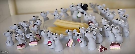 Darčeky pre svadobčanov - Svadobné myši personalizované - menovky/darčeky pre svadobných hostí - 10659688_