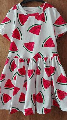 Detské oblečenie - Melónové šaty - 10659775_