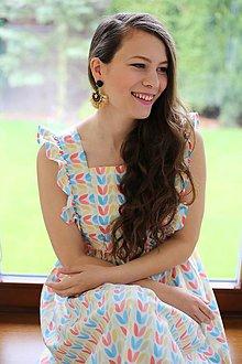 Tehotenské oblečenie - Šaty FORGET-ME-NOT Spring - 10660377_