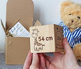 Detské doplnky - Drevená kocka. Pamiatka narodenia - 10660174_