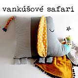 Textil - Vankúš do postielky - slon - 10659384_
