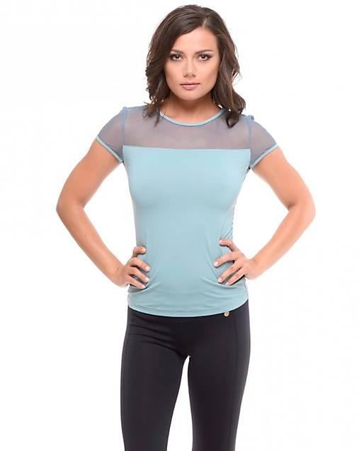 Tričko s krátkym rukávom so sieťkou modré