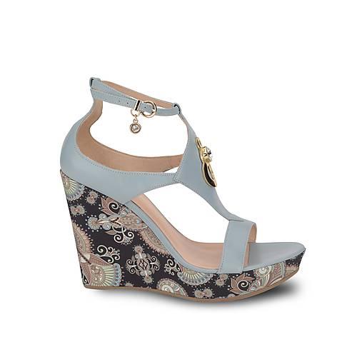 5d60a54fba Kožené modré sandále na platforme   PLZR - SAShE.sk - Handmade Obuv