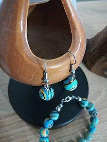 Sady šperkov - Set N&N (Umelý modrý malachit) - 10659446_