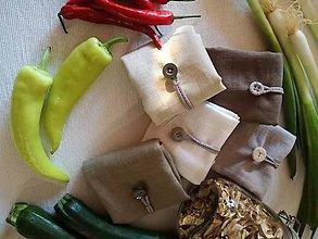 Úžitkový textil - Ľanové vrecká pre pánov - ADAM - 10659614_