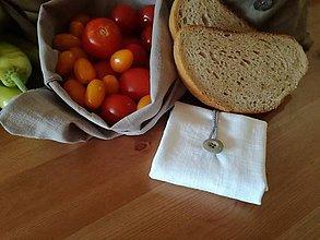 Úžitkový textil - Ľanové vrecká pre pánov - ADAM (26 cm x 31 cm - Biela) - 10659623_
