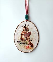 Dekorácie - maxi kraslica zajačiky - 10658457_