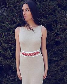 Šaty - Výpredaj -Ľanové šaty variabilné - 10659496_