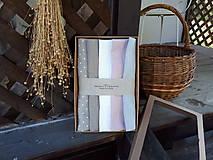 Úžitkový textil - Darčeková sada Linen Towels Romantic - 10659972_