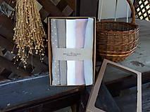 Úžitkový textil - Darčeková sada Linen Towels Romantic - 10659975_