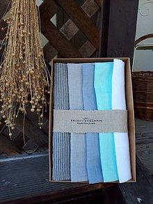 Úžitkový textil - Darčeková sada Linen Towels Lime - 10659943_