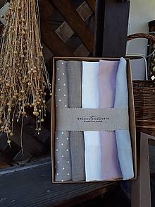 Úžitkový textil - Darčeková sada Linen Towels Romantic - 10659974_