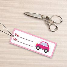 Papiernictvo - Menovka na darček auto (s okrajmi) - 10657989_