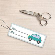 Papiernictvo - Menovka na darček auto (bez okrajov) - 10657993_
