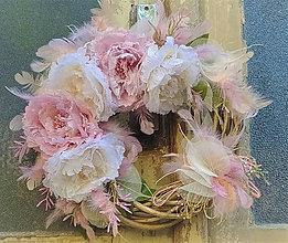 Dekorácie - Jemný veniec v pastelových farbách - 10661207_